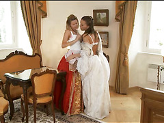 Stare at three so sexy and nasty lesbo gals licking well