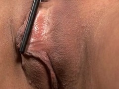 Placing a pump on her cunt creates wild pleasures for honey