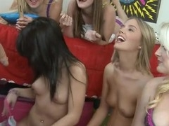 Nasty hotties are having a lusty shlong engulfing lesson