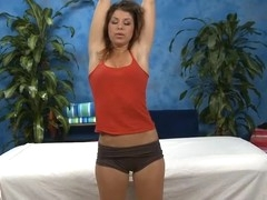 Sexy hawt chick bonks and sucks her massage therapist